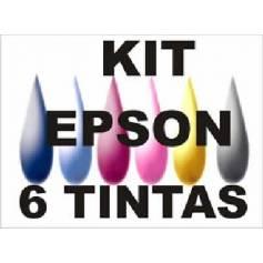 Maxi kit pro recarga cartuchos t0801 t0806 t0791 t0796