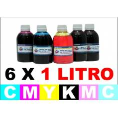 pack 6 botellas de 1 Litro tinta multiuso colorante para Epson cmykCcMc
