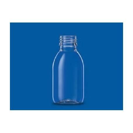 botella de PET 100 ml. 1 botella con tapón y obturador.