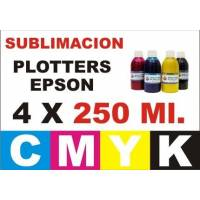 4 botellas 250 ml. de tinta de sublimacion para plotters 42 pulgadas