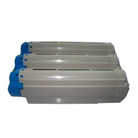Oki C5600 C5700 tres cartuchos reciclados de toner color C M Y