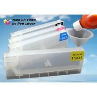 T612X 4 cartuchos recargables Epson Stylus Pro 7400 Pro 7450 Pro 9400 Pro 9450