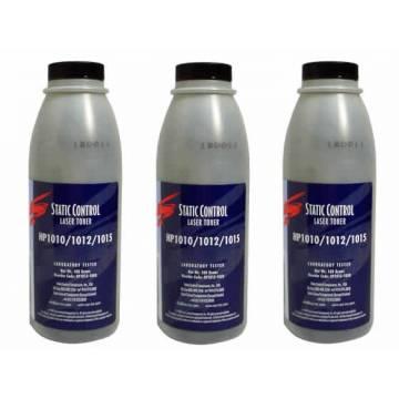 para Hp Q7553, recargas de toner, 3 botellas 140 gr. + chips
