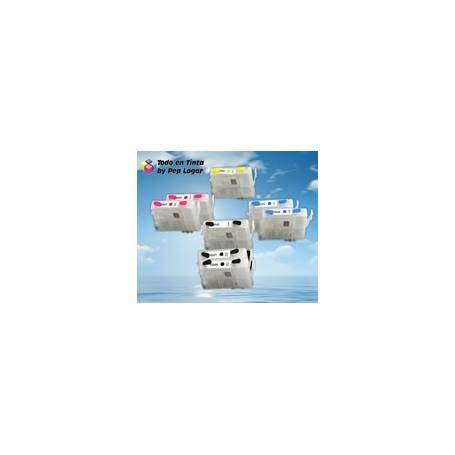 T0591 T0582 T0593 T0594 T0595 T0596 T0597 T0598 cartuchos recargables compatibles Epson