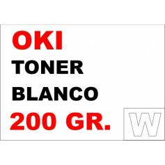 OKI recargas tóner blanco 200 gr.
