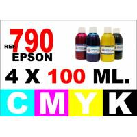 Epson 790 pack 4 botellas 100 ml. CMYK