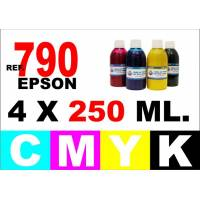 Epson 790 pack 4 botellas 250 ml. CMYK