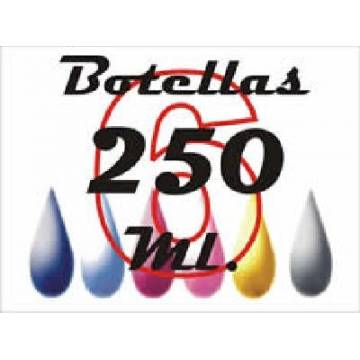 6 botellas 250 ml. de tinta de sublimación para plotters 42 pulgadas