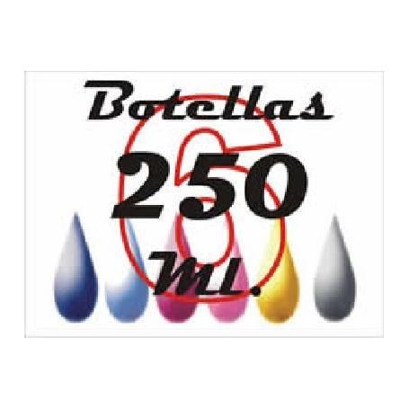 6 botellas 250 ml. de tinta de sublimacion para plotters 42 pulgadas