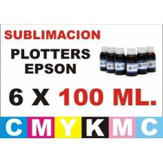 6 botellas 100 ml. de tinta de sublimacion para plotters 42 pulgadas