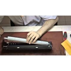 Limpieza de lámina dosificadora de cilindro revelador