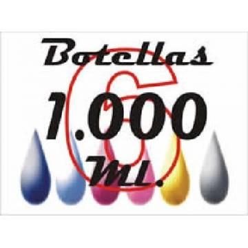 6 botellas 1000 ml. de tinta de sublimación para plotters 42 pulgadas