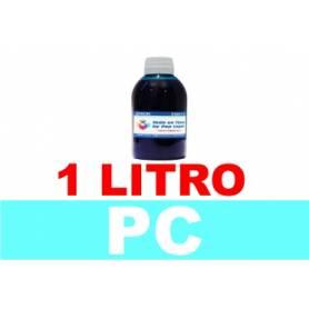 1 L. tinta cian claro colorante para cartuchos HP