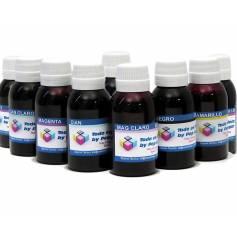 9 botellas 250 ml. tinta pigmentada para plotter Epson K3