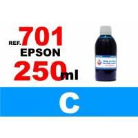 Epson 701, 701 XL botella 250 ml. tinta cian