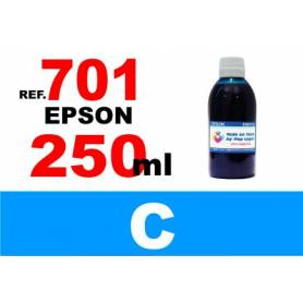 Epson 701, 701 XL botella 250 ml. tinta cian
