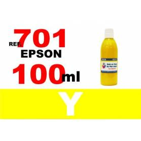 Epson 701, 701 XL botella 100 ml. tinta amarilla