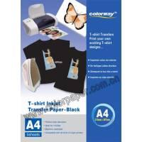 Dark T-shirt transfer paper,120g/m2 A4 5 Fogli