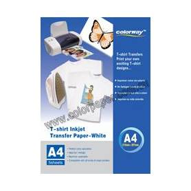 White T-shirt transfer paper,120g/m2 A4 5 Fogli