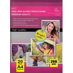 A4 doble cara glossy inkjet Papel photo 260g 20 hojas