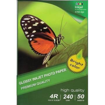 10x15cm r4 high glossy inkjet photo paper 240g 50 hojas