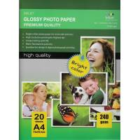 297X210MM A4 High Glossy Inkjet Photo Paper 240g-20 Fogli