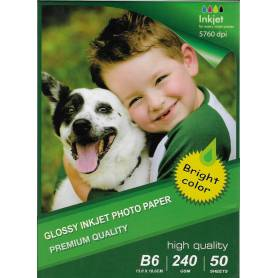 13X18CM B6 High Glossy Inkjet Photo Paper 240g-50 Fogli