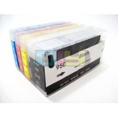 Para Hp 950 para Hp 951 cartuchos transparentes recargables