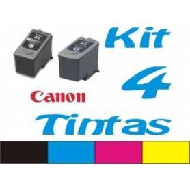 Maxi Kit Pro recarga cartuchos tinta Canon PGI-37, PGI-40, PGI-50, CLI-38, CLI-41, CLI-51