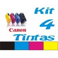 Maxi Kit Pro recarga cartuchos tinta Canon CLI-8 PGI-5 y BCI-6 BCI-3Bk 4 tintas