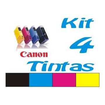Maxi Kit Pro recarga cartuchos tinta para Canon CLI-8 PGI-5 y BCI-6 BCI-3Bk 4 tintas