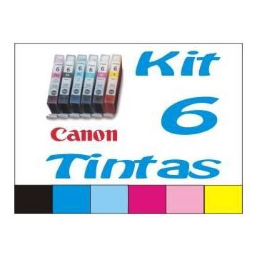 Maxi Kit Pro recarga cartuchos tinta para Canon CLI-8 y BCI-6, 6 tintas BkCCpMMpY