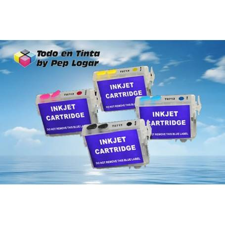 T0711 T0712 T0713 T0714 cartuchos recargables compatibles Epson SX