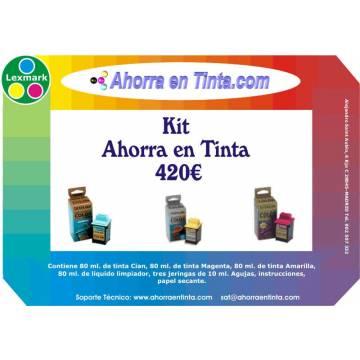 Kit de Inicio color Lexmark ( para recargar cartuchos de 3 tintas, CMA )