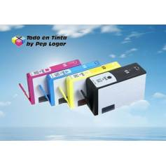 Maxi Kit Pro recarga cartuchos tinta Hp 364XL y Hp 920 4 tintas Bk C M Y