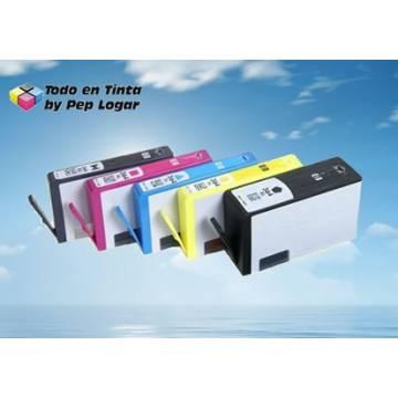 Maxi Kit Pro recarga cartuchos tinta para Hp 364XL para Hp 920 5 tintas Bpg Bk C M Y