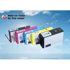 Maxi Kit Pro recarga cartuchos tinta Hp 364XL Hp 920 5 tintas Bpg Bk C M Y