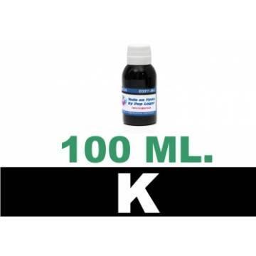 100 ml. tinta negra colorante para cartuchos para HP