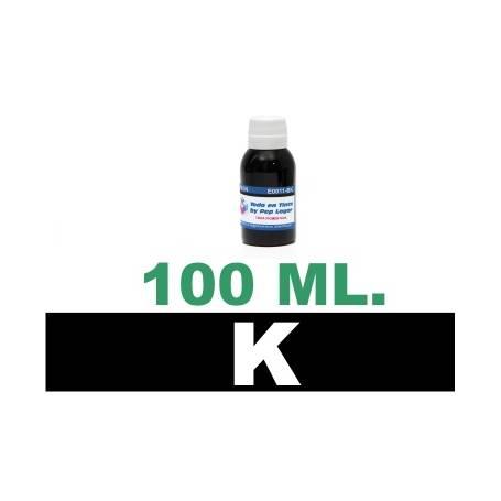 100 ml. tinta negra colorante para cartuchos HP