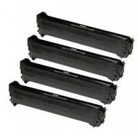 4 tambores reciclados Oki C3300 C3400 C3450 C3600 CMYK
