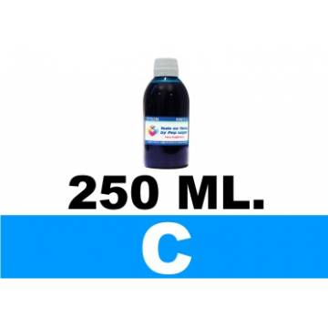 250 ml. tinta cian cartuchos para Brother lc123 lc900 lc985 lc1000 lc1100 lc1240