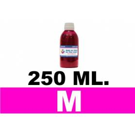 250 ml. tinta MAGENTA cartuchos Brother LC123 LC900 LC985 LC1000 LC1100 LC1240