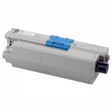 Para Oki c301 c321 mc332 mc342 cartucho tóner negro reciclado 4.200 pág.. doble carga
