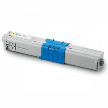 Para Oki c301 c321 mc332 mc342 cartucho tóner cian reciclado 3.000 pág.. doble carga