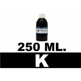 250 ml. tinta negra cartuchos Brother LC123 LC900 LC985 LC1000 LC1100 LC1240