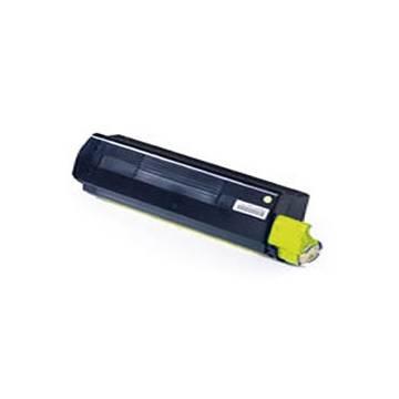 Para Oki c3000 c3100 c3200 color amarillo cartucho tóner reciclado