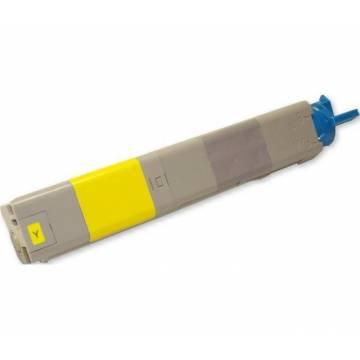 Para Oki c3300 c3400 c3600 amarillo cartucho tóner reciclado