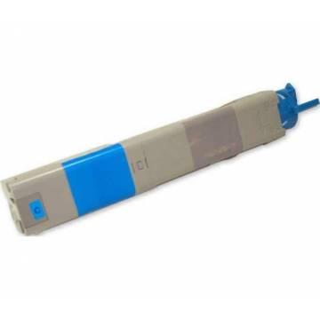 Para Oki c3300 c3400 c3600 cian cartucho tóner reciclado