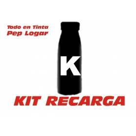 Oki B4520 B4540 B4545 MFP 3 botellas de recargas de toner + 3 chips