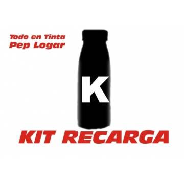 Para Oki b4520 b4540 b4545 mfp 3 botellas de recargas de tóner + 3 chips